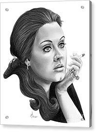 Adele Acrylic Print by Murphy Elliott