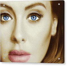 Adele Painting Circle Pattern 1 Acrylic Print by Tony Rubino