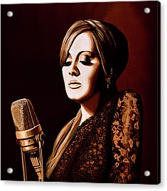 Adele Skyfall Gold Acrylic Print by Paul Meijering