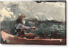 Adirondacks Guide Acrylic Print by Winslow Homer