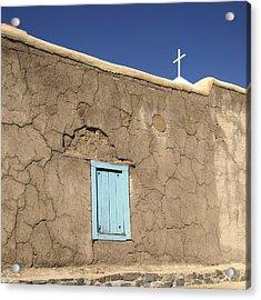 Adobe Church Taos Acrylic Print by Ann Powell