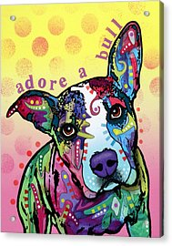 Adoreabull Acrylic Print by Dean Russo