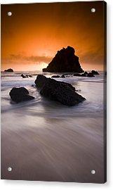 Adraga Beach Acrylic Print by Andre Goncalves