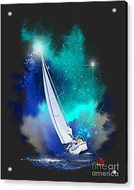 Adrift Acrylic Print by Barbara Hebert