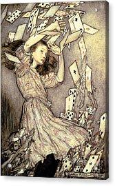 Adventures In Wonderland Acrylic Print by Arthur Rackham
