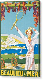 Advertising Poster For Beaulieu-sur-mer Acrylic Print by French School
