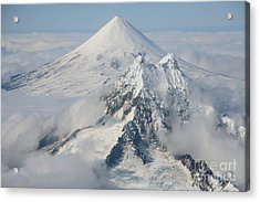 Aerial View Of Shishaldin Volcano Acrylic Print by Richard Roscoe