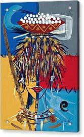 African Beauty 2 Acrylic Print by Oglafa Ebitari Perrin