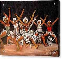 African Dancers Acrylic Print by Pilar  Martinez-Byrne