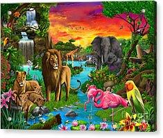 African Paradise Acrylic Print by Gerald Newton