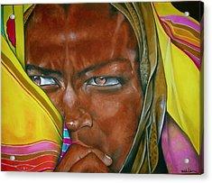 African Princess Acrylic Print by Ralph Lederman