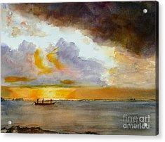 African Sunrise Acrylic Print by Mohamed Hirji