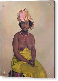 African Woman Acrylic Print by Felix Edouard Vallotton