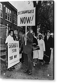 Africans American Protest School Acrylic Print by Everett