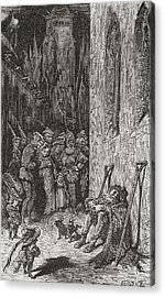 After A Work By Gustave Dore For Balzac Acrylic Print by Vintage Design Pics