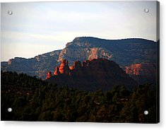 After Sunset In Sedona Acrylic Print by Susanne Van Hulst