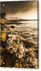 Afternoon Rocky Coast  Acrylic Print by Jorgo Photography - Wall Art Gallery