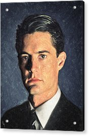 Agent Cooper Acrylic Print by Taylan Soyturk