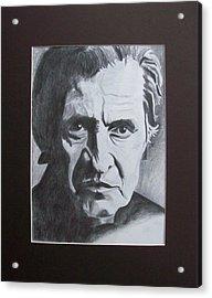 Aging Johnny Cash Acrylic Print by Mikayla Ziegler