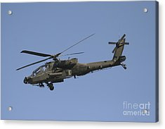 Ah-64 Apache In Flight Over The Baghdad Acrylic Print by Terry Moore