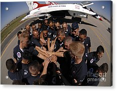Air Force Thunderbird Maintainers Bring Acrylic Print by Stocktrek Images