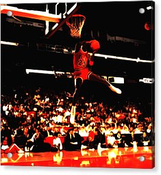 Air Jordan 1988 Slam Dunk Contest 8c Acrylic Print by Brian Reaves