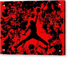 Air Jordan 1b Acrylic Print by Brian Reaves