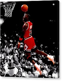 Air Jordan Flight Path Acrylic Print by Brian Reaves