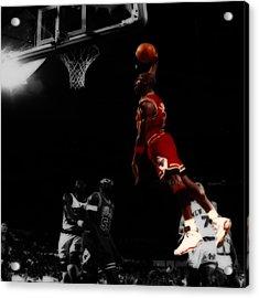Air Jordan Glide Acrylic Print by Brian Reaves