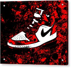 Air Jordan I Notorious Acrylic Print by Brian Reaves