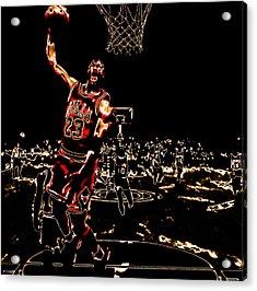 Air Jordan Thermal Acrylic Print by Brian Reaves