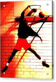 Air Jordan Where It All Started Acrylic Print by Brian Reaves