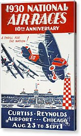 Air Race Poster, 1930 Acrylic Print by Granger