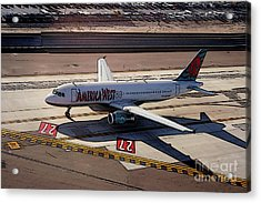 Airbus A320-231 Preparing For Takeoff America West Airlines Acrylic Print by Wernher Krutein