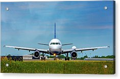 Airbus A320 Acrylic Print by Guy Whiteley