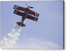 Airplane Performing Stunts At Airshow Photo Poster Print Acrylic Print by Keith Webber Jr