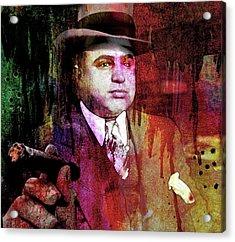 Al Capone Acrylic Print by Mal Bray