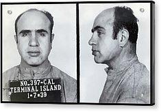 Al Capone Mugshot  1939 Acrylic Print by Daniel Hagerman