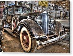 Al Capone's Packard Acrylic Print by Nicholas  Grunas