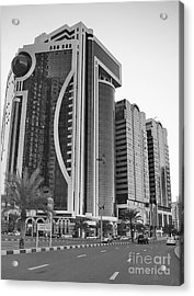 Al Durrah Tower - Sharjah Acrylic Print by Hussein Kefel