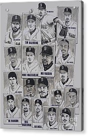 Al East Champions Red Sox Newspaper Poster Acrylic Print by Dave Olsen