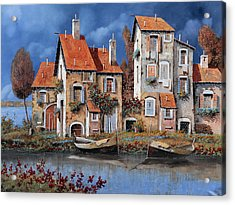 Al Lago Acrylic Print by Guido Borelli