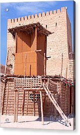 Al Manama Summer Bed And House With Cooling Tower Acrylic Print by Chris Smith
