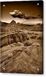 Alabama Hills California B W Acrylic Print by Steve Gadomski