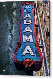 Alabama Acrylic Print by JC Findley