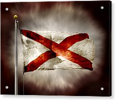 Alabama State Flag Acrylic Print by Steven  Michael