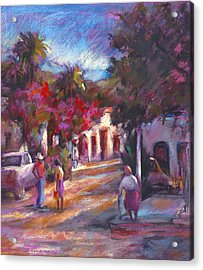 Alamos Street Acrylic Print by Joan  Jones
