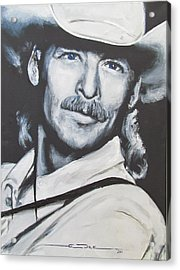 Alan Jackson - In The Real World Acrylic Print by Eric Dee