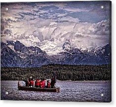 Alaskan Canoe Journey Acrylic Print by Rebecca Snyder