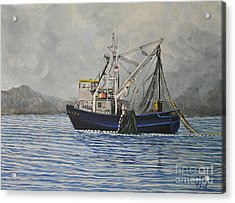 Alaskan Fishing Acrylic Print by Reb Frost